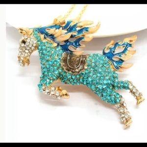 Betsey Johnson Jewelry - Betsey Johnson horse necklace